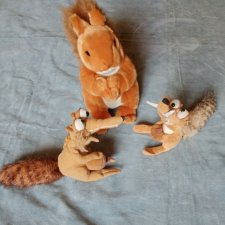 Белки - мягкие игрушки