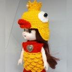 Карнавальный костюм  Золотая Рыбка для Баболек, Лати, Пукифи и БЖД малышек