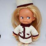 Комплект одежды для куклы ГДР 14-15 см, копытки Шанель
