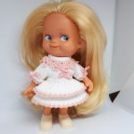 Платье Барышня для куклы ГДР 14 см, Копытки