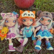 Авторские куколки из полимерной глины от Милы