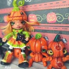 Хеллоунское настроение. Авторские куклы от Милы
