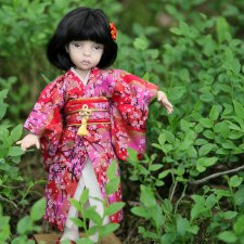 Харуми: фарфоровая шарнирная кукла