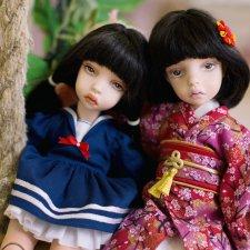 Харуки и Харуми позируют для вас, много фото
