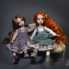 Сестренки Эмили и Джейн - фарфоровые девочки