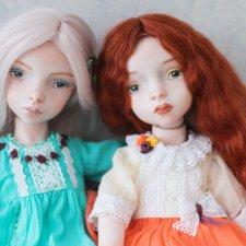 Марта и Амели - мои новые фарфоровые куклы