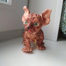 Котенок сфинкса из силикона