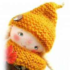 Илви. Дочь лесника. Авторская текстильная куколка Катерины Скачковой