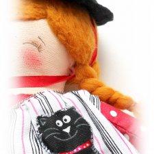 ХЕЛЛИ. Маленькая волшебница. Авторская текстильная куколка Катерины Скачковой