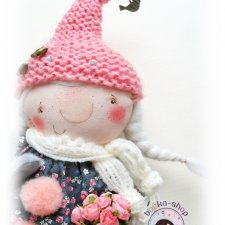 МАРТА - зазывательница ВЁСЕН. Новая текстильная куколка Катерины Скачковой