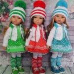 Теплые комплекты на кукол Паола Рейна 32-34 см. и кукол подобного формата.