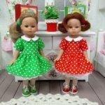 Платья на кукол Паола Рейна мини 21 см.