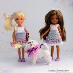Платье для куклы Челси