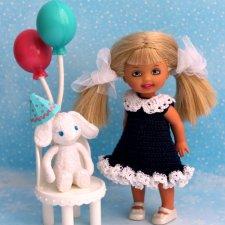 Платье для маленькой куклы 12 см