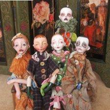 Коротенькая история жизни Печалек, авторских фарфоровых куколок