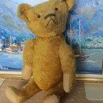 !Скидка! 10000 руб! Мишка старый иностранный, так приятно шуршит соломкой! 62см детского счастья!