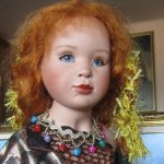 Еще один шедевр художественной куклы. Циркачка.   Maja Bill Buchwalder.