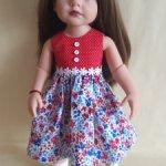 Платье для кукол Готц 36 см, Видал Рохас 41 см.
