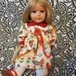 Продам винтажную куклу Brigitte Schildkröt, Германия.