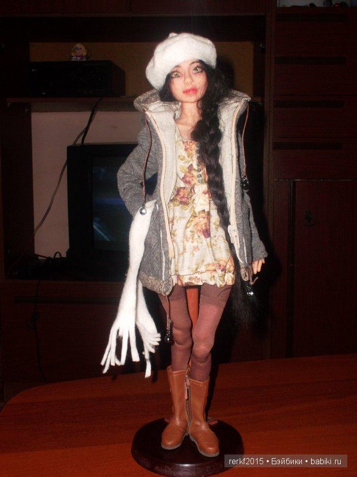 Милая ,очаровательная Галочка.шарнирная кукла.