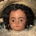 Аникварная немецкая кукла Simon Halbig 739 DEP Mulatto