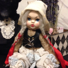 Коллекционная  кукла  Гертруда , тедди долл