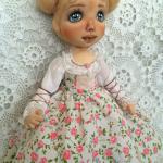 Текстильная кукла Настя