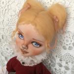 Авторская текстильная кукла Луиза