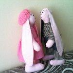 Первый опыт пошива Тильда кроликов