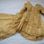 Шикарнейшее антикварное платье со шлейфом. Перчатки и ботиночки. СНИЖЕНИЕ ЦЕНЫ!!!