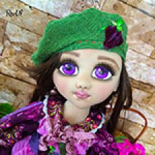 Текстильная кукла Хары Бюльбюль