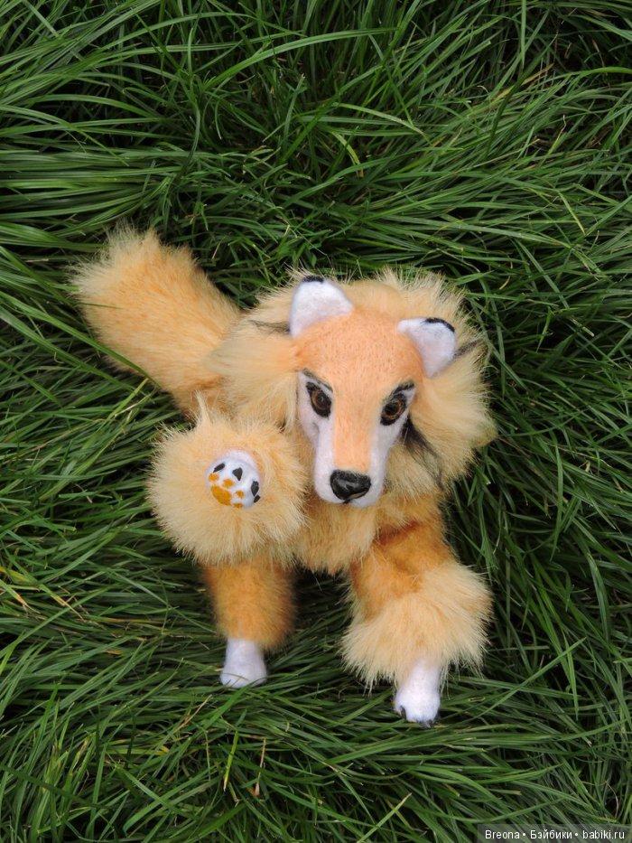 собака на проволочном каркасе игрушка
