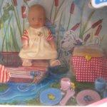 "Мини куколка пупсик Baby Born Miniworld с набором ""Пикник"" от Zapf Creation."