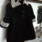 Пальто из бархата для антикварной куклы