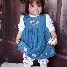 Коллекционная виниловая кукла Лиза из молда Lizzy by Gerlinde Feser