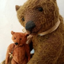 Моя крошечная коллекция мишек-тедди. Медведи российских авторов.