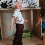 Комплект одежды для куклы из кримплена СССР