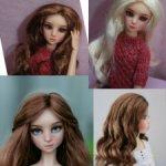 """Monique Gold Парик для кукол 4-5"""" 4 БЖД Meadow Studio Milim Миленка Барби парики моник"""