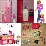 Мебель ванная холодильник душевая еда стульчик кукла Blythe Barbie Dream House Переноска Simba