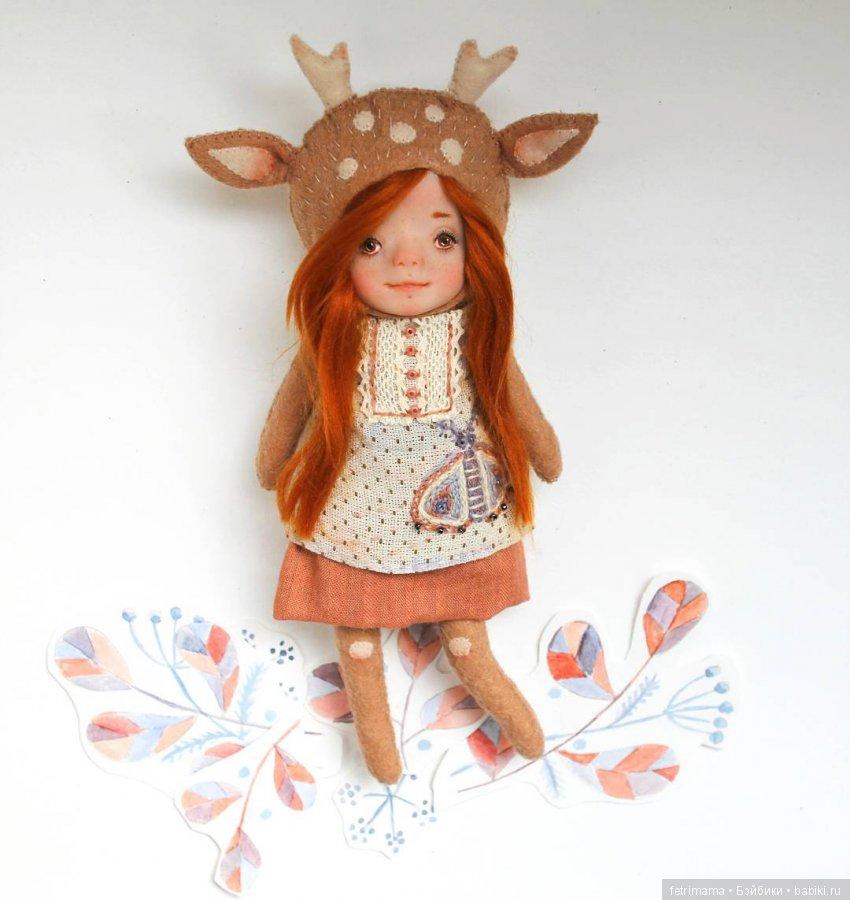 Кукла с олененком