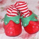 Тапочки гномика рождественские. с оленями.