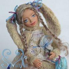 Моя авторская кукла тедди долл зайка. SeVlaNa