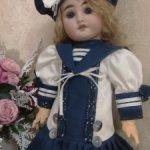 Морячка Соня))).Нарядный комплект в морском стиле  для кукол ростом 39-43см.