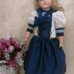 Комплект в морском стиле для кукол ростом 65-72см.