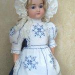 Платье для большой куколки ростом 60-72см.