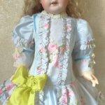 Английская роза-платье с заниженной талией для кукол ростом от 55-72см.