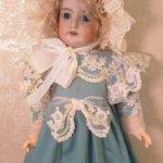 Кружевной боннет-реплику антикварного боннета,для антикварных кукол и реплик 55-65см роста.