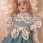 Платье для антикварных кукол и кукол реплик ростом 55-65см.