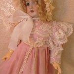 Платье для антикварных кукол и кукол реплик ростом 50-55см.