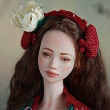 Миранда. Фарфоровая шарнирная кукла
